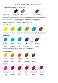 Spray Tip Color Chart Dylusions Ink Spray Color Chart Easily Find Coordinating