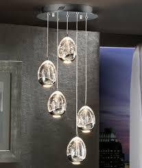 chrome or gold led glass ball pendant