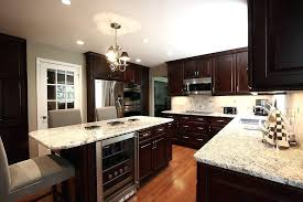 painting kitchen cabinets black hanging lamp chandelier pendant lights cream wooden classic island dark top counter
