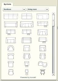 floor plan with furniture. furniture floor plan vector with o