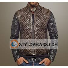 Brown Quilted Leather Jacket | Jackets Review & Men's Quilted Brando Leather Jacket Adamdwight.com