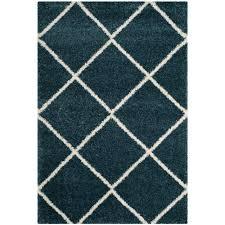 safavieh hudson slate blue ivory 6 ft x 9 ft area rug