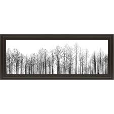 on rectangular framed wall art with winter trees horizontal framed wall art rc willey furniture store