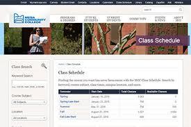 College Class Scheduler Class Schedule Mesa Community College