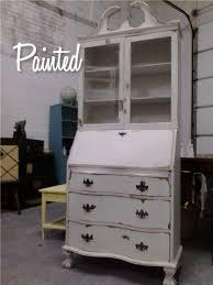 painted antique secretary