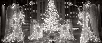 vintage images of rockefeller center tree in new york