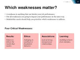 Good Answers For Strengths And Weaknesses List Of Weaknesses For A Job Interview Zaxa Tk Examples Best Resume