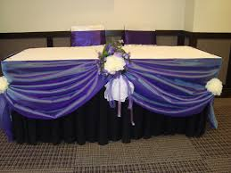 a long romantic reception table decorated ...