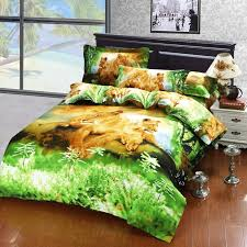 cute animal plant oil painting bedding