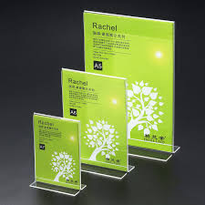 Menu Display Stands Restaurant 100cm100cm Countertop T Style Clear Acrylic Sign Holders A100 Menu 84