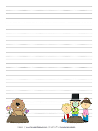 Writing Paper Day Handwriting Paper Printable Groundhog Day