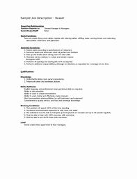 Restaurant Resume Template 100 Luxury Restaurant Resume Templates Resume Cover Letter Ideas 29