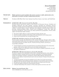 Administrative Secretary Resume Sample Best of Secretary Resume Objective Examples Medical Samples Sample Stanmartin