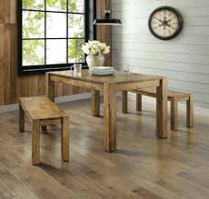 dining table set for 4 rustic farmhouse kitchen bench 3 piece solid wood real oak and image 0 real wood kitchen table
