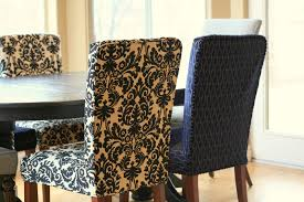 dining room chair slipcovers pattern inspiration ideas decor amazing patterned covers she had been holding onto the damask fabric few years and found grey