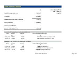 Bank Statement Reconciliation Form Reconciliation Form Template Glotro Co