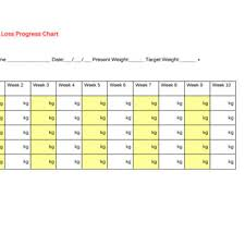43 Weight Loss Charts Goal Trackers Free Template Archive
