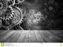 Black Business Background Retro Business Cogs Technology Background Stock Photo Image Of