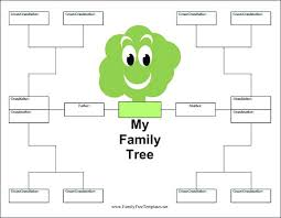 Family Tree Templates Kids Wonderful Blank Family Tree Template Form For Kids Definition In Cpp