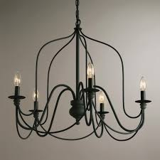 rustic wire chandelier