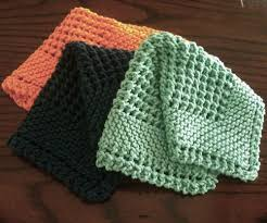 Free Knitting Patterns For Dishcloths Beauteous We Like Knitting Diagonal Knit Dishcloth Free Pattern Knit And