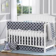navy metro 4 piece crib bedding set