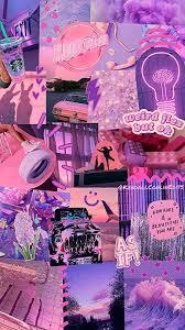 Purple Aesthetic Wallpaper Collage ...