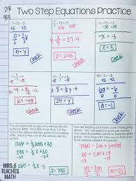 two step equations practice for algebra interactive notebooks