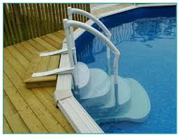 above ground swimming pool steps deck Pool Design