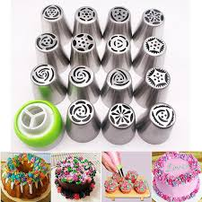 2019 Russian Piping Tips Cake Nozzles Icing Tips Pastry Bag For Cake