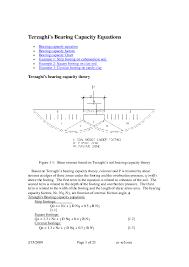 Soil Bearing Capacity Chart Pdf Terzaghis Bearing Capacity Equations Mahabul Islam