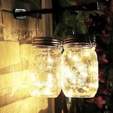 lighting jar. ALED LIGHT 3-Pack Solar Mason Jar Light Warm White 2 Metre 20 LED Lamps Lighting