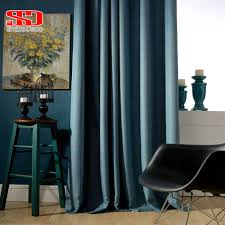 For Living Room Curtains Aliexpresscom Buy Solid Faux Linen Plain Blackout Curtains For