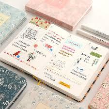 Agenda Office Kawaii Floral Notebook Yearly Monthly Weekly Planner Agenda School