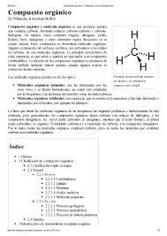 Compuesto Org Nico Wikipedia La Enciclopedia Libre