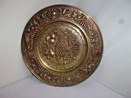 Antique Brass Wall Plates Interesting Antique Brass Wall Plates Vintage Brass Collectible Vintage Brass
