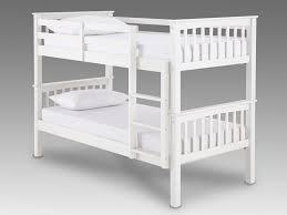 gfw novaro white wooden bunk bed frame