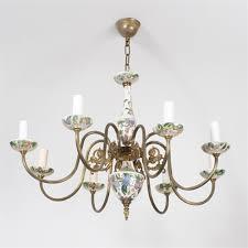 vintage chandelier rose porcelain