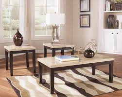 ashley set of 3 faux marble top tables