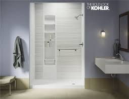 acrylic or tile that s the usual question when it comes to choosing your bathroom walls but today there s a third option luxstone by kohler