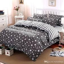 grey duvet cover king full queen duvet cover whole the stars stripes polyester bedding set grey grey duvet cover