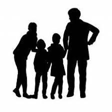 四人家族シルエット イラストの無料ダウンロードサイトシルエットac
