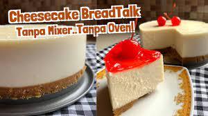 Resep cheese cake memang bukan sepenuhnya asli kuliner lokal. Resep Cara Membuat Cheesecake Breadtalk Tanpa Oven Tanpa Mixer Youtube