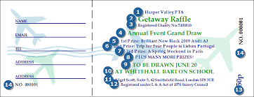 Prize Draw Tickets On The Road Raffle Ticket Printing Raffle Ticket Printing