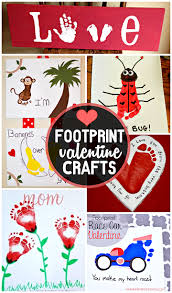 Valentines Day Quotes For Preschoolers Footprint Valentines Day Crafts Valentines Day Pinterest