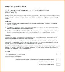 Basic Business Proposal Template Business Proposal Examples