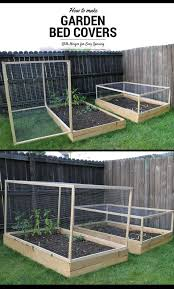 raised garden bed cover with hinges