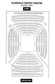 Seating Chart Glendale Centre Theatre
