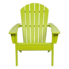 Image Dark Green Seaside Lime Green Adirondack Chair Home Depot Green Plastic Adirondack Chairs Patio Chairs The Home Depot