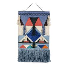 Retro Chic Designer Home Happy Friday Retro Chic Large Wall Hanging Blue Home
